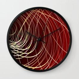 Complex Swirl-Golden Red Wall Clock