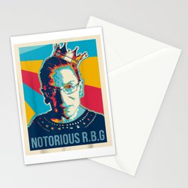 Vintage Notorious RBG tshirt Ruth Bader Ginsburg court Stationery Cards