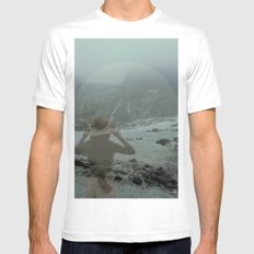 windflow White MEDIUM Mens Fitted Tee