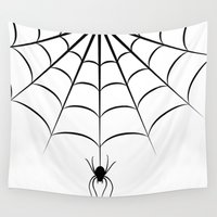 spider Wall Tapestries featuring Spider by haroulita