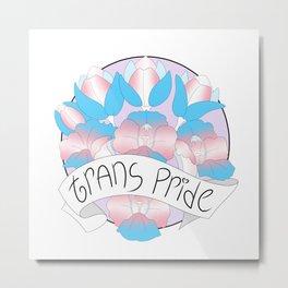 Trans Pride Flowers Metal Print