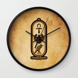 Egyptian cartouche Wall Clock