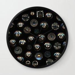 Transparent Buttons Scanograph Wall Clock