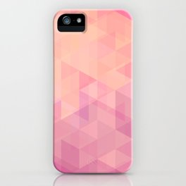 Geometric Pink  iPhone Case