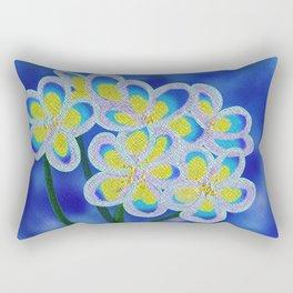 Blue Lillies Rectangular Pillow