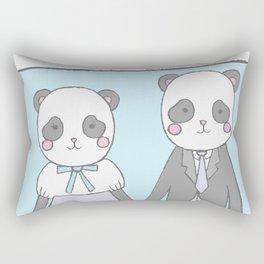 Pandas in love Rectangular Pillow