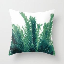 Tropical Leaves Dream #2 #tropical #decor #art #society6 Throw Pillow