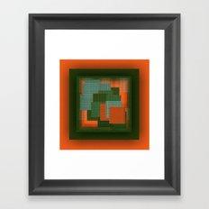 Orange Color Geometry Framed Art Print