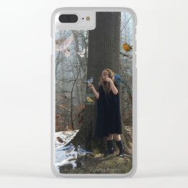 Birds born in cages believe that flying is a disease Clear iPhone Case