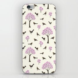 Cherrytrees and Blackbirds iPhone Skin