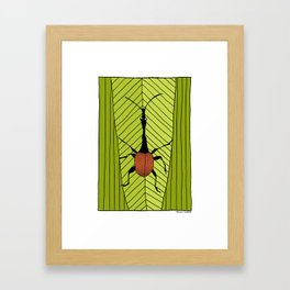 giraffe weevil Framed Art Print