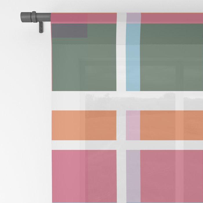Geometric Shape 05 Sheer Curtain