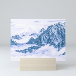 Mountains Embraced by the White Clouds Mini Art Print