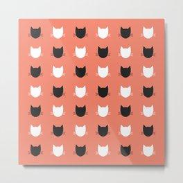 Cat Pattern 02 Metal Print