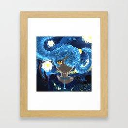 Starry Night Eye Framed Art Print