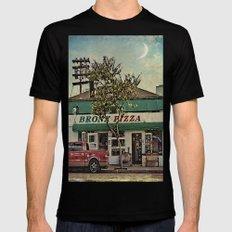 Bronx Pizza MEDIUM Mens Fitted Tee Black