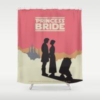 princess bride Shower Curtains featuring The Princess Bride by mattranzetta