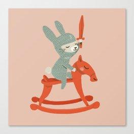 Rabbit Knight Canvas Print