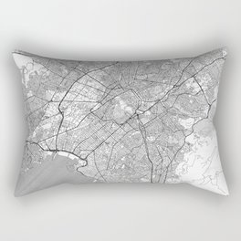 Athens Map Line Rectangular Pillow