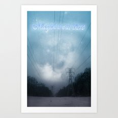 Midnight magick with title Art Print