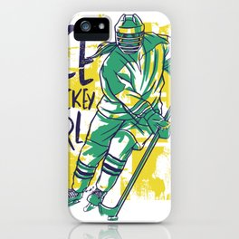 Hockey Girl Ice iPhone Case