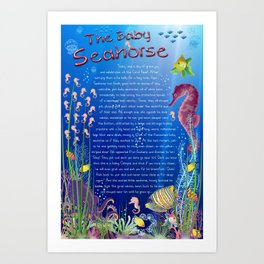 Tale-on-a-poster / The baby Seahorse Art Print