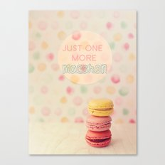 just one more macaron Canvas Print