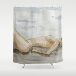 Faceless nude 4 Shower Curtain
