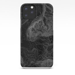 NORTH BEND WA TOPO MAP - DARK iPhone Case