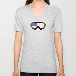 USA Goggles | Goggle Designs | DopeyArt Unisex V-Neck