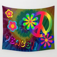 peace Wall Tapestries featuring peace !!! by Shea33