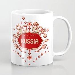 "Russia remembrance gift ""Welcome"" invitation design travel Coffee Mug"