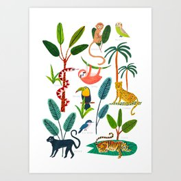 Jungle Creatures Kunstdrucke