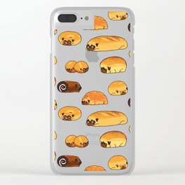 Bread Pugs Clear iPhone Case