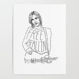 Tom Petty Free Fallin' Poster