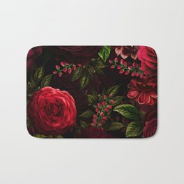 Mystical Night Roses Bath Mat