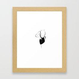 Graphic sketch line woman Framed Art Print