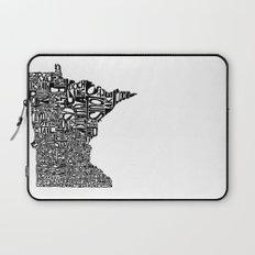 Typographic Minnesota Laptop Sleeve