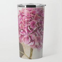 Beautiful Pink Hydrangea Travel Mug