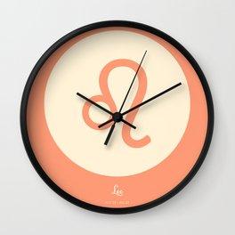 Leo Symbol Pink Wall Clock