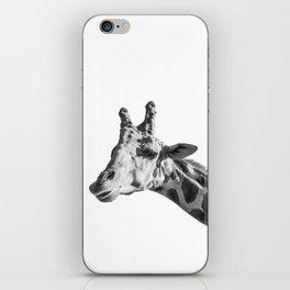 Giraffe Animal Photography Minimalism | Black and White Art iPhone Skin