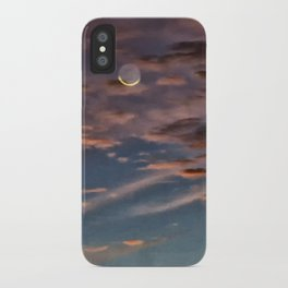 Crescent Moon At Sunrise iPhone Case