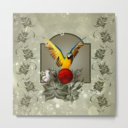 Wonderful parrots Metal Print