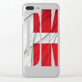 DK---Danmark-Flag Clear iPhone Case