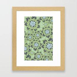 Sakura and the Wind Framed Art Print