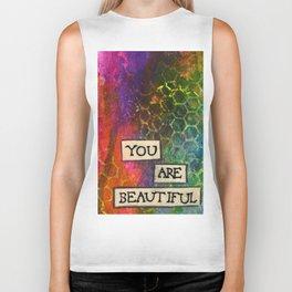 Affirmation #19 You Are Beautiful Biker Tank