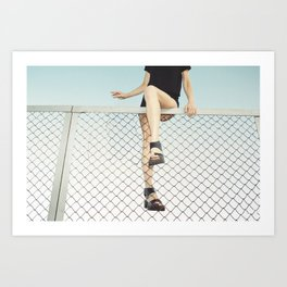 Hoping Fences Art Print