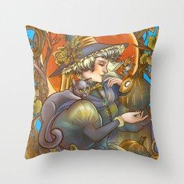 Samhain Festival Color Throw Pillow
