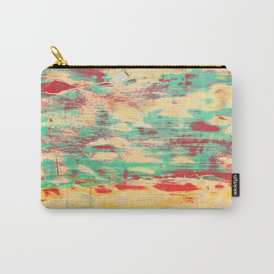 Wooden Pattern Carry-All Pouch