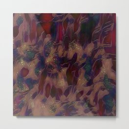 Chaos in Red Metal Print